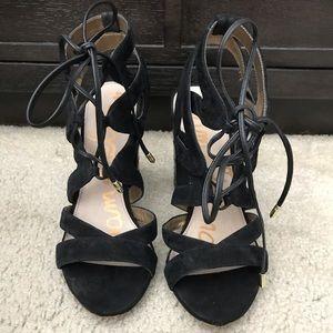Sam Edelman Lace Tie Sandals - Size 8.5